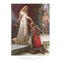 ''The Accolade'' by Edmund Blair Leighton Museum Art Print (32 x 24 in.)