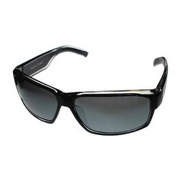 Perry Ellis Mens Sunglass PE16 1 Crystal Black Plastic Wrap, Light Smoke Lens