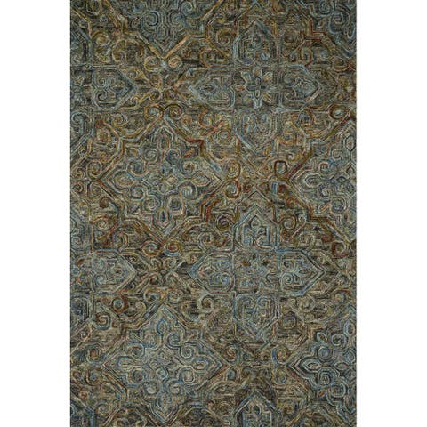 Alexander Home Madeline 100% Wool Hand-Hooked Traditional Area Rug