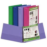 Samsill Fashion Color Value View Binder, 1-1/2 in, 11 X 8-1/2 in, Clear