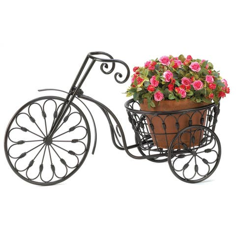 Bicycle Plant Stand - Black