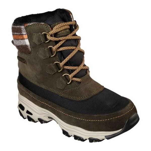 bdf0fded669 Shop Skechers Women's D'Lites Lund Mid Hiker Boot Olive - On Sale ...