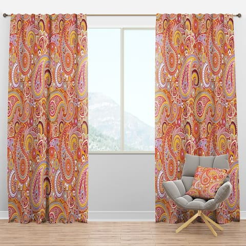 Designart 'Pattern Based on Traditional Asian Elements' Modern Blackout Curtain Panel