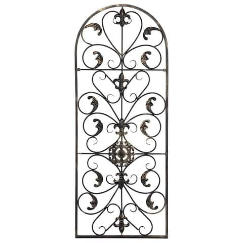"""41.5"""" Retro Decorative Arch Wall Art Victorian Style Iron Ornament Vintage, Holiday Decorations, Christmas Wall Art"""