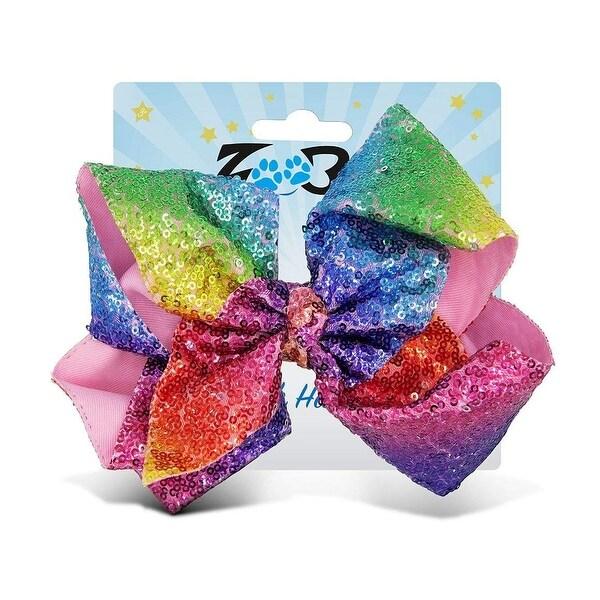 Sparkling Glitter Girl Handmade Hair Bow Clip-Set Of 2