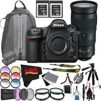 Nikon D850 DSLR Camera (Body Only) 1585 International Model + Nikon AF-S NIKKOR 200-500mm f/5.6E ED VR Lens Bundle