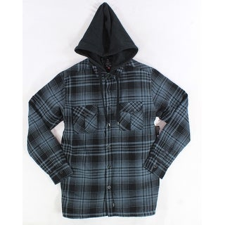 ...Lost NEW Brown Mens Size Small S Plaid Button Down Shirt-Jacket