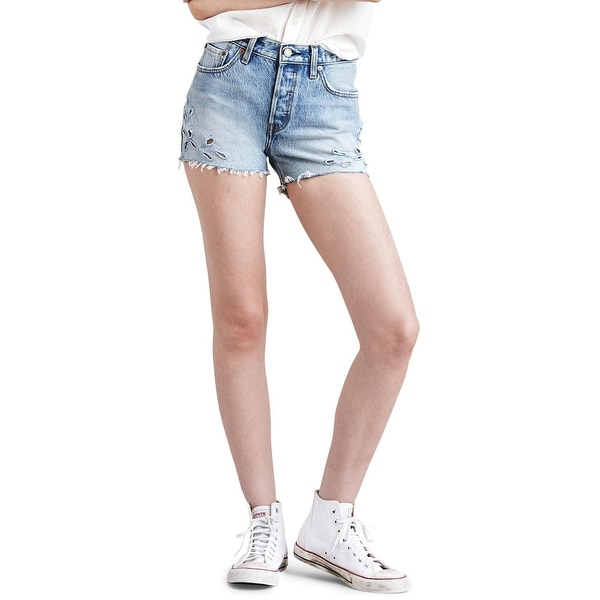 5be1f288 Shop Levi's Womens 501 Denim Shorts High Rise Frayed Hem - Free Shipping On  Orders Over $45 - Overstock - 28286499