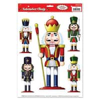"Pack of 60 Assorted Nutcracker Window Clings Christmas Decorations 17"" - multi"