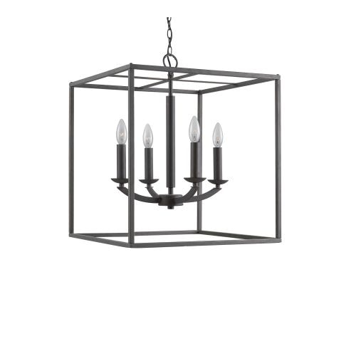 Woodbridge Lighting 14424 4 Light 1 Tier Candle Style Cage Chandelier from the Lola Collection