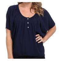 Christin Michaels Navy Blue Women's Size Medium M Blouse