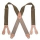 CTM® Men's Big & Tall Non-Elasticized Button End Work Suspenders - Thumbnail 2