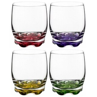 Vibrant Splash Water and Beverage Glasses Set of 4 Drinkware9.75 Ounce