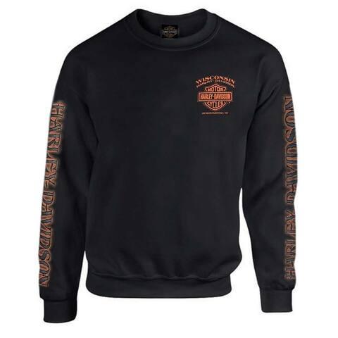 fb0f2b3f2 Harley-Davidson Men's Eagle Piston Fleece Pullover Sweatshirt, Black  30299948