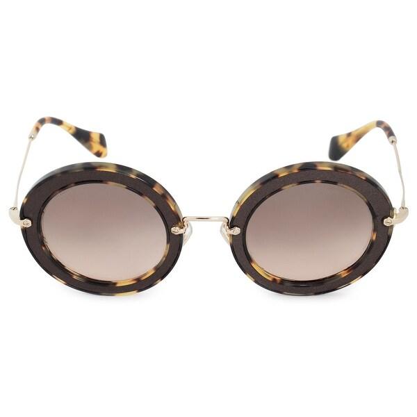 aee7a5f7cc2 Shop Miu Miu Round Sunglasses SMU08RS VIF3D0 49 - On Sale - Free ...