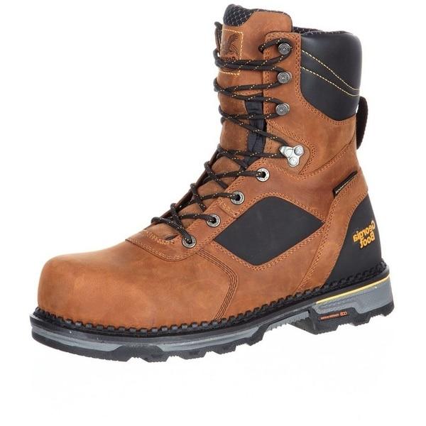 Georgia Boot Work Mens Hammer HD Composite Waterproof Brown