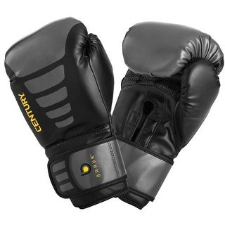 Century Brave Hook and Loop Training Boxing Gloves - Black/Gray (2 options available)