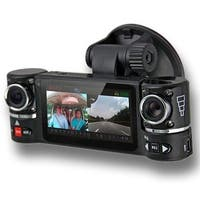 "Indigi® F600 Car DVR DashCam w/ 2 Rotating Cameras (Front+Rear) BlackBox Driving Recorder with 2.7"" LCD w/ G-Sensor + IR Assist"
