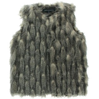 French Connection Womens Danny Faux Fur Lined Outerwear Vest