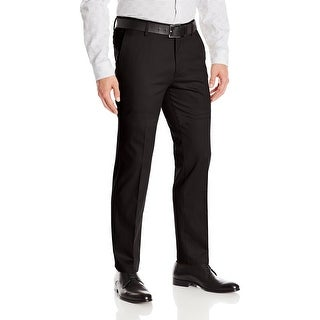Dockers Mens Pants Solid Black Size 40x30 Slim Fit Khakis Stretch