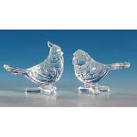 Club Pack of 12 Icy Crystal Decorative Clear Birds Figurines 3""