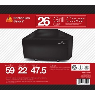 "Barbeques Galore 26"" Grill Cover for Freestanding Gas Grill"