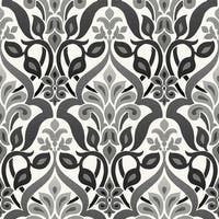 Brewster 2535-20648 Fusion Black Ombre Damask Wallpaper - N/A