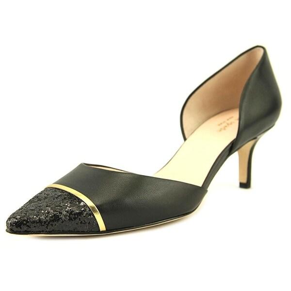 Kate Spade Pam Women Open Toe Leather Black Sandals