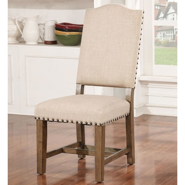 Furniture of America Dice Rustic Oak Solid Wood Side Chairs (Set of 2). Opens flyout.