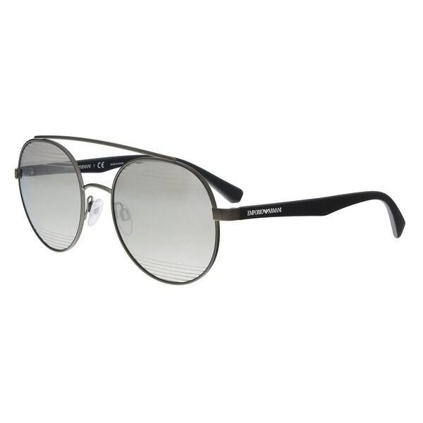 f947ff612d0 Emporio Armani EA2051 30106G Matte Gunmetal Aviator Sunglasses - 53-20-140