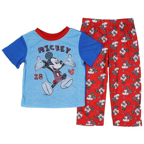 Disney Mickey Mouse Little Boys' Toddler Scribble Art 2-Piece Pajama Set