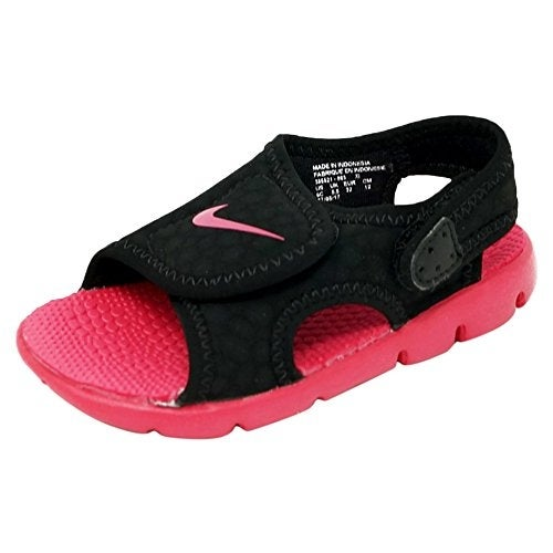 size 40 cecfb 08e72 Shop Nike Sunray Adjust 4 Toddler Girls  Sandals Black Rush Pink 10C - Free  Shipping Today - Overstock - 20999612