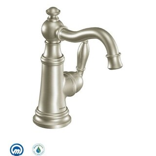 Moen S42107 Single Handle Single Hole Bathroom Faucet from the Weymouth Collection (Valve Included)