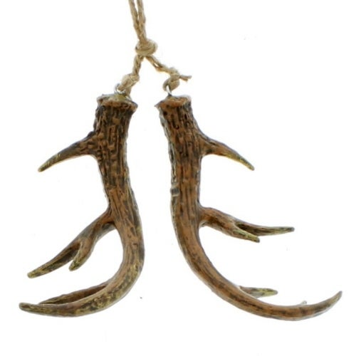 "8"" Faux Brown Antler Ornament"