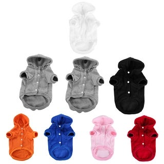 Polyester Dog Sweatshirt Hooded Hoody Pet Winter Clothes Coat w Pocket