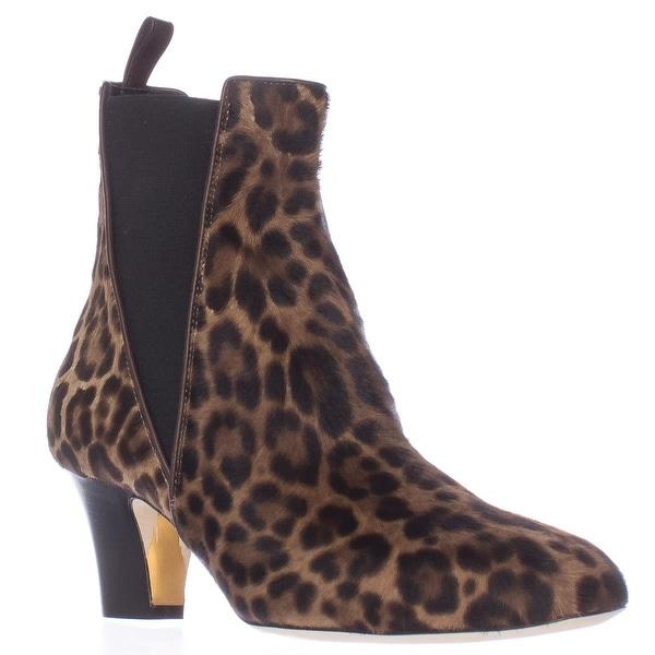 Rupert Sanderson Oscar Low-Heel Ankle Boots, Leopard