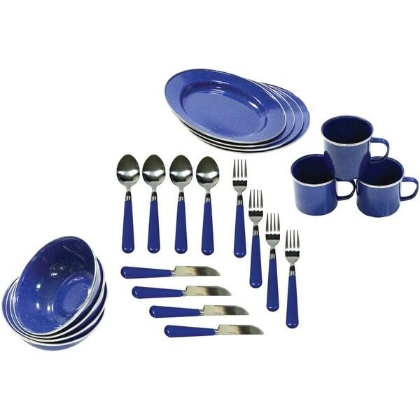 Stansport(Tm) - 11220 - 24 Piece Tableware Enamel