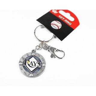 Tampa Bay Rays MLB Impact Metal Key Ring Keychain