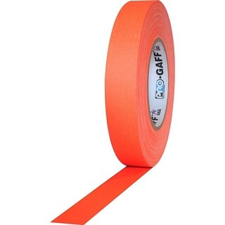 Pro Gaff Gaffers Tape 1 inch x 55 yard Roll (Choose Color) (Option: fluorescent orange)