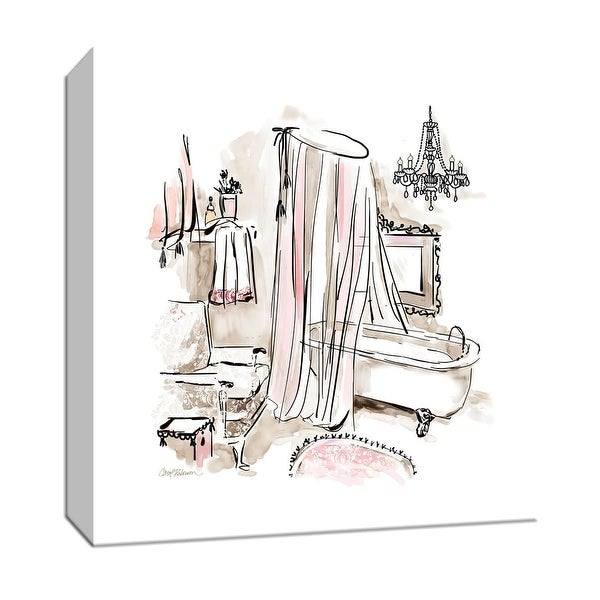 "PTM Images 9-147036 PTM Canvas Collection 12"" x 12"" - ""Pink Opulence I"" Giclee Bathroom Art Print on Canvas"