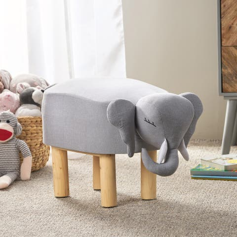 Goshen Contemporary Kids Elephant Ottoman by Christopher Knight Home