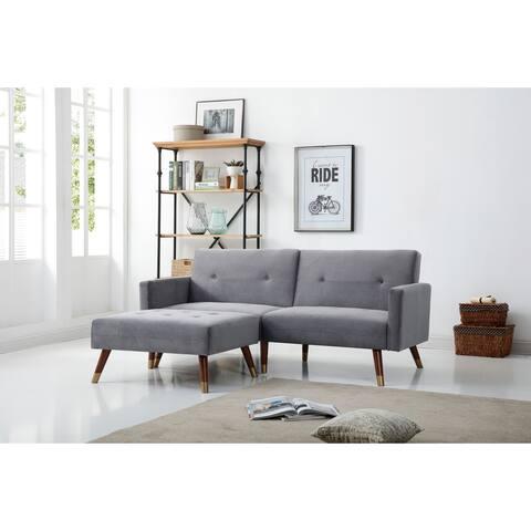Carson Carrington Valten Velvet Upholstery Convertible Sofa Bed