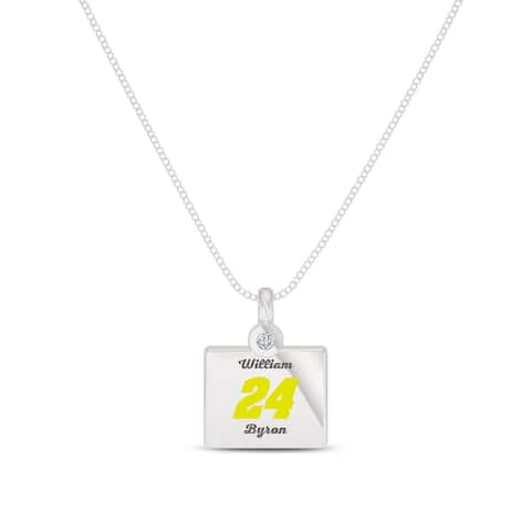 William Byron Sterling Silver Diamond Pendant Necklace