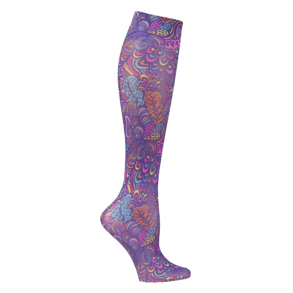 Celeste Stein Women's Moderate Compression Knee High Stockings - Fantasea - One size