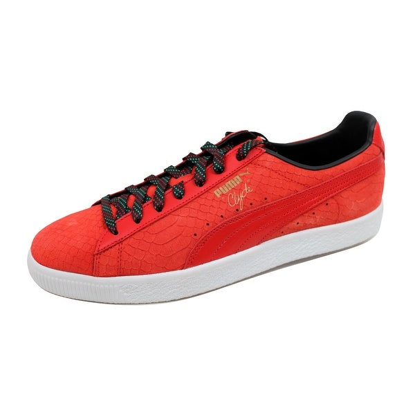 Puma Men's Clyde GCC High Risk Red/Puma Black 362631 02 Size 13