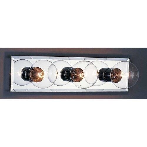 Volume Lighting V1033 3 Light Bathroom Vanity Strip - Silver