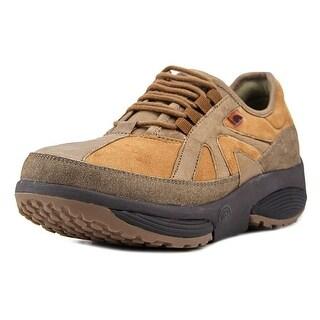 Stretch Walker Earth   Round Toe Leather  Walking Shoe