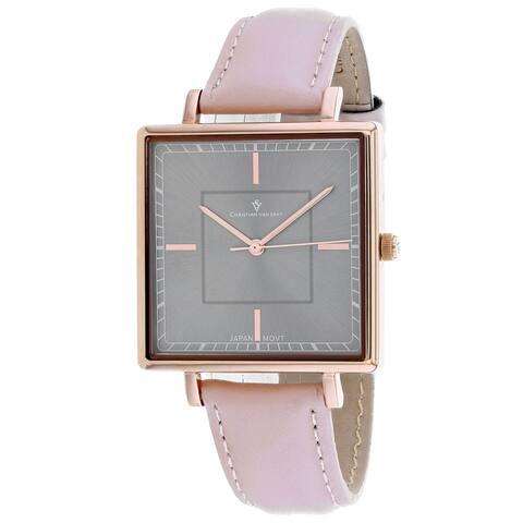 Christian Van Sant Women's Callista Grey Dial Watch - CV0415 - One Size