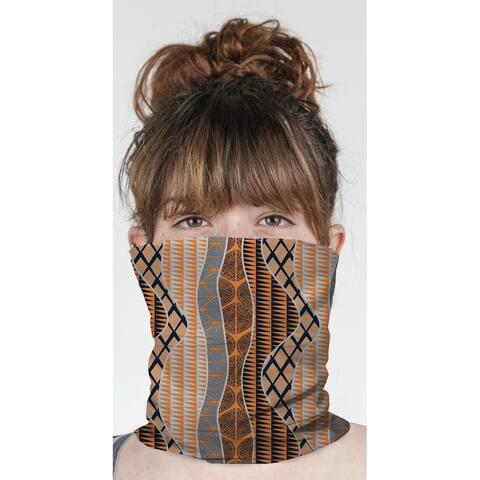 """WRAP ORANGE Neck Gaiter By Becky Bailey - 10"""" x 18"""""""