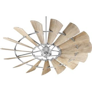 """Quorum International 97215 Windmill 72"""" 15 Blade Hanging Indoor Ceiling Fan with Reversible Motor, and Blades